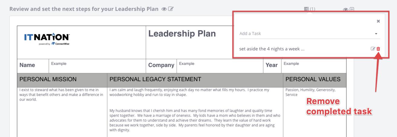 IT Nation Evolve - Leadership Plan